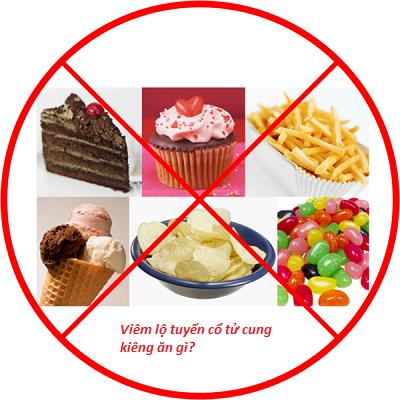 Viêm lộ tuyến cổ tử cung phải kiêng ăn gì?